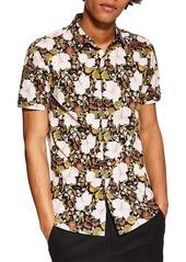 Topman Stretch Skinny Fit Floral Sport Shirt
