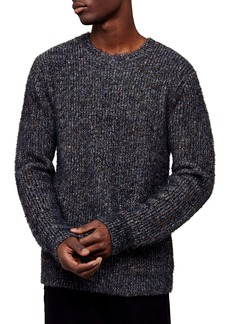 Topman Fluffy Camo Crewneck Sweater