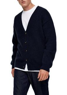 Topman Fluffy Knit Classic Fit Cardigan
