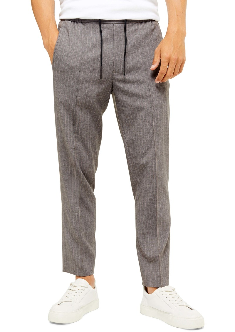 Topman Flump Relaxed Fit Crop Drawstring Trousers