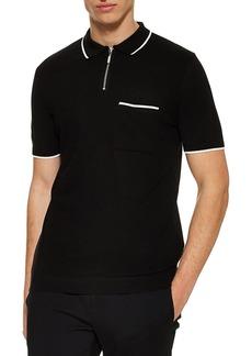 Topman Front Zip Polo Shirt