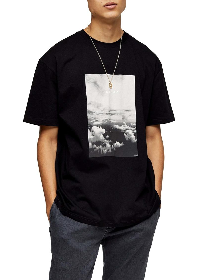 Topman Future Cloud Oversize T-Shirt