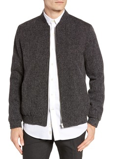 Topman Grey Harvey Bomber Jacket