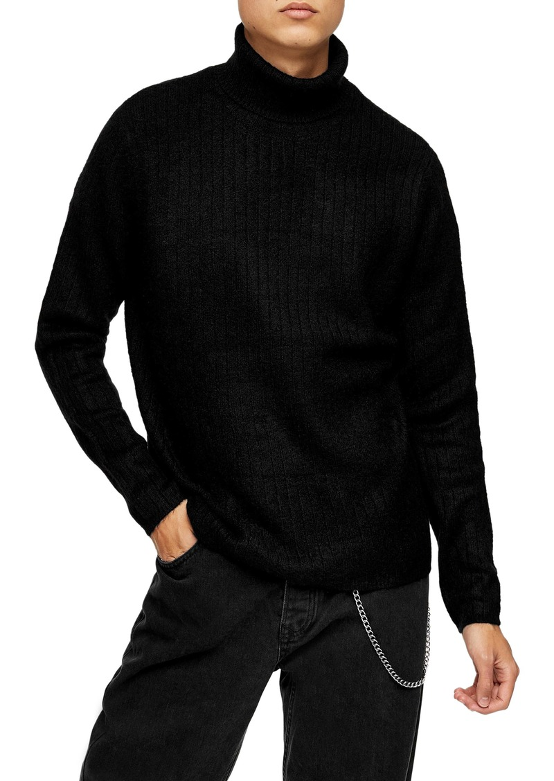 Topman Harlow Ribbed Turtleneck Sweater