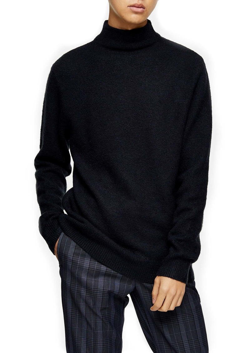 Topman Harlow Side Zip Funnel Neck Sweater