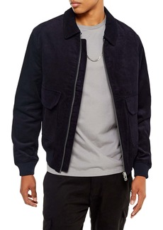 Topman Harrington Slim Fit Zip-Up Corduroy Jacket