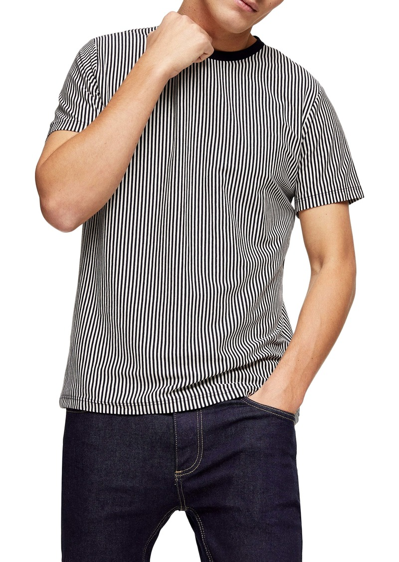 Topman Harry Pinstripe T-Shirt