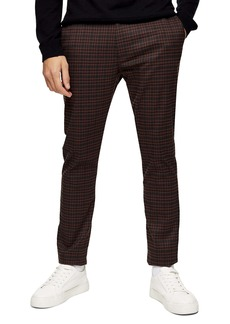 Topman Heritage Skinny Fit Check Pants