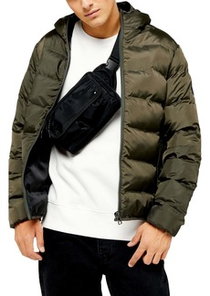 Topman Hooded Puffer Jacket