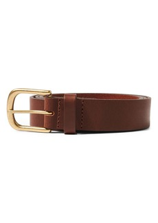 Topman Horseshoe Buckle Leather Belt