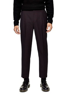 Topman Houndstooth Tapered Fit Trousers