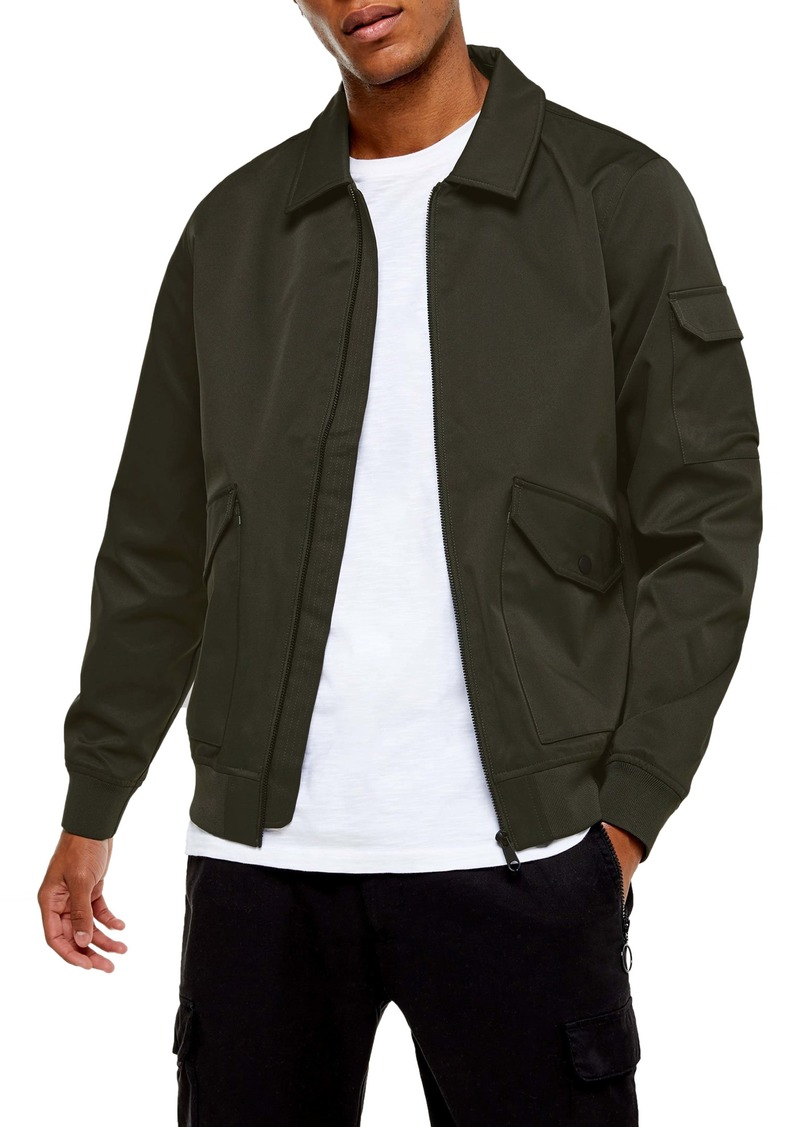 Topman Icon MA-2 Classic Fit Bomber Jacket