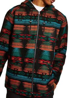 Topman Jacquard Hooded Jacket