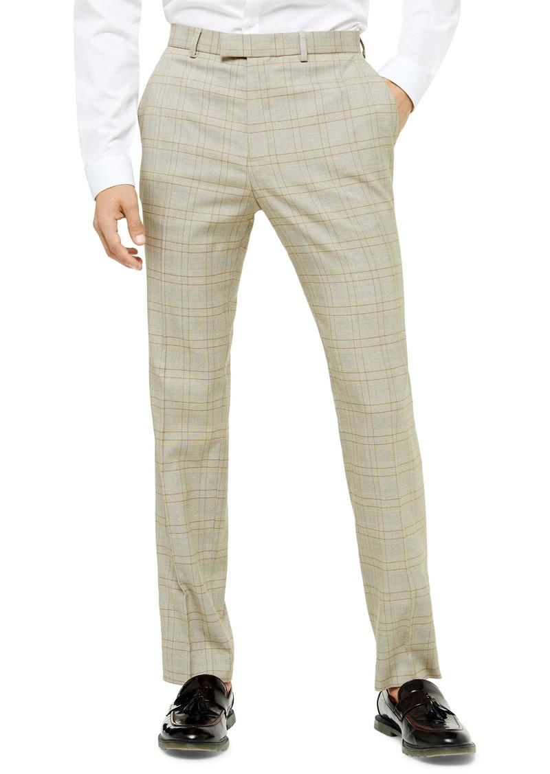 Topman Jake Check Skinny Fit Suit Pants