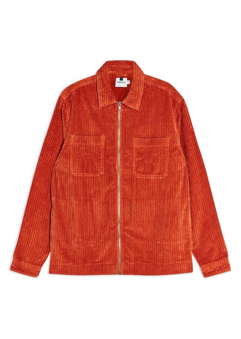 Topman Jambo Corduroy Slim Fit Shirt Jacket