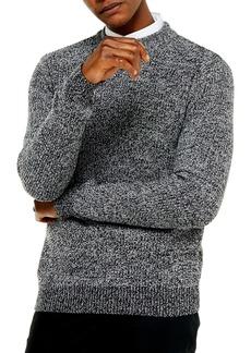 Topman Jaspé Crewneck Sweater