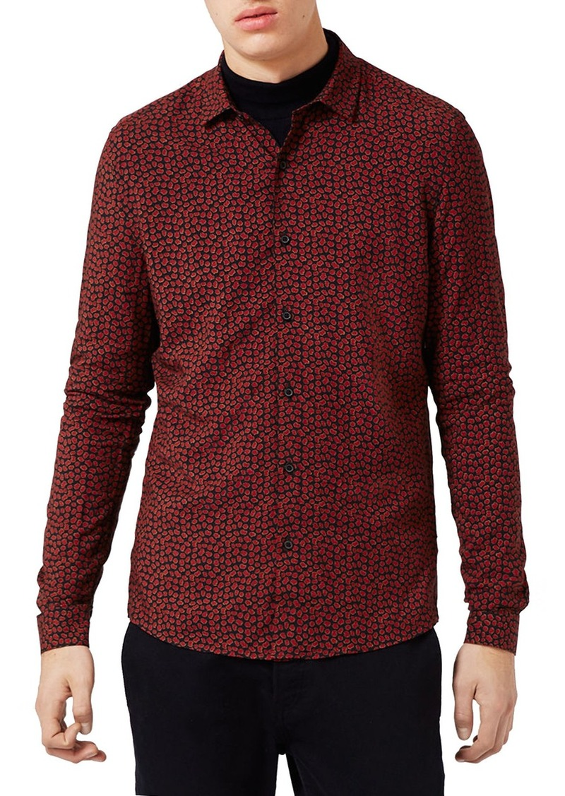 Topman Jigsaw Print Shirt
