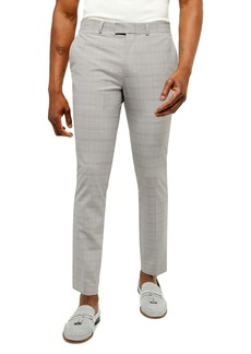 Topman Lemen Slim Fit Cropped Plaid Pants