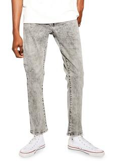 Topman Lenny Splash Wash Slim Fit Jeans