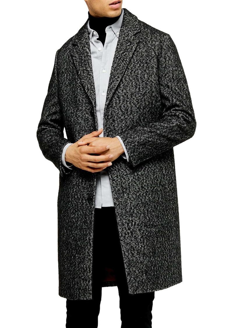 Topman Leon Herringbone Coat
