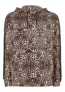 Topman Leopard Print Hoodie