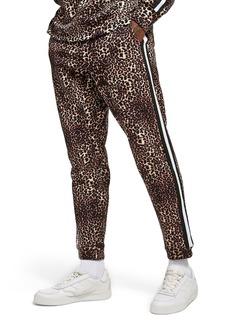 Topman Leopard Print Tape Jogger Pants