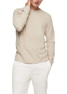 Topman Long Sleeve Rib T-Shirt