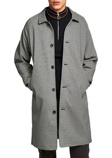 Topman Longline Check Mac Jacket