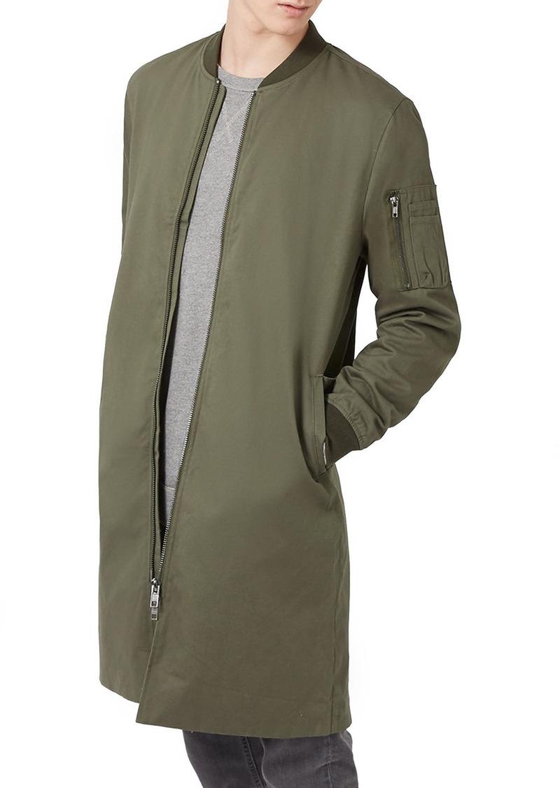Topman Longline Mac Bomber Jacket