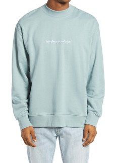 Topman Look Forward Mock Neck Sweatshirt