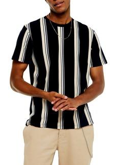 Topman Luke Classic Fit Stripe Piqué T-Shirt