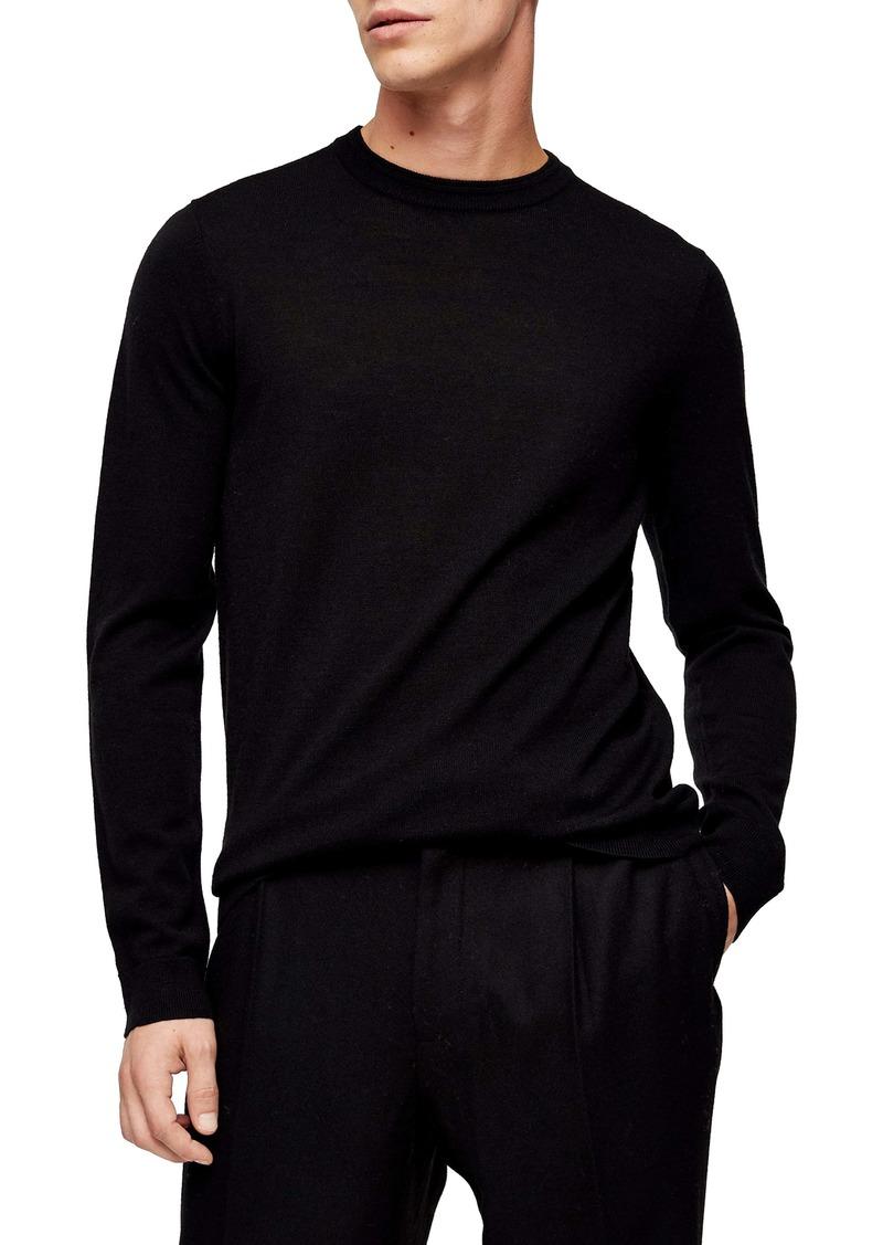 Topman Merino Wool Crewneck Sweater