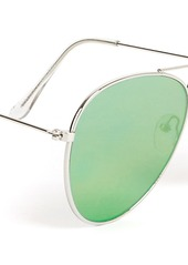 Topman Metal Aviator Sunglasses