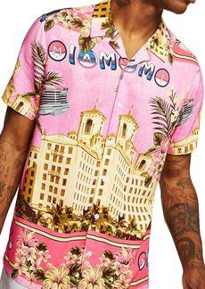 Topman Miami Short Sleeve Classic Fit Shirt