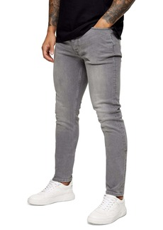 Topman Mid Gray Skinny Jeans