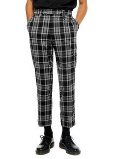 Topman Mike Check Print Skinny Fit Dress Pants