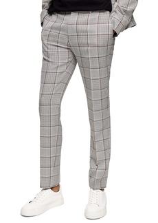 Topman Mitch Plaid Skinny Fit Pants