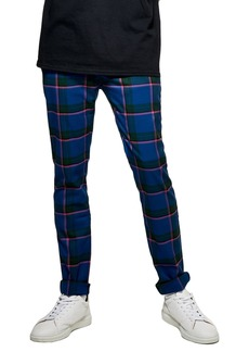 Topman Mitchell Check Print Skinny Pants