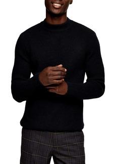 Topman Mock Neck Sweater