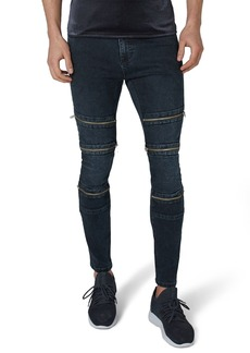 Topman Multi Zip Spray-On Jeans