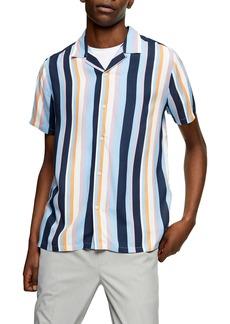 Topman Multistripe Slim Fit Shirt