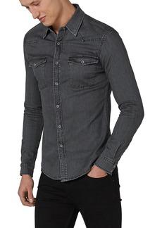 Topman Muscle Fit Denim Western Shirt