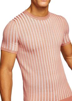 Topman Muscle Fit Ribbed T-Shirt