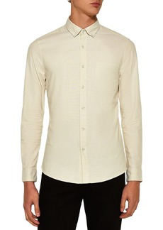 Topman Muscle Fit Stripe Oxford Shirt