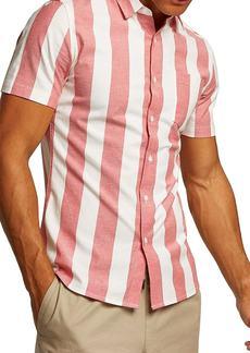Topman Muscle Stripe Woven Shirt
