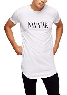 Topman New York Longline Graphic T-Shirt