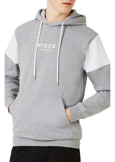 Topman NICCE Slim Fit Colorblock Hoodie