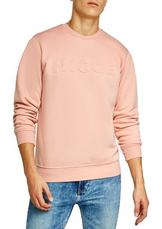 Topman NICCE Slim Fit Embossed Sweatshirt