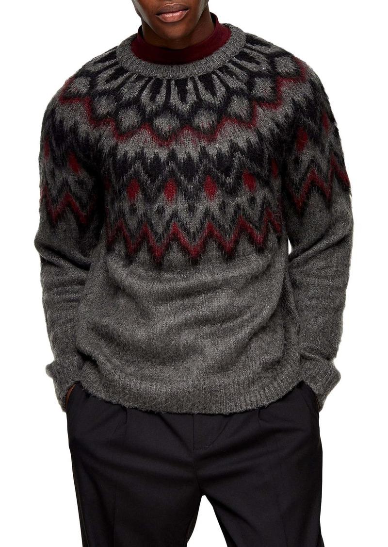 Topman Nordic Crewneck Sweater