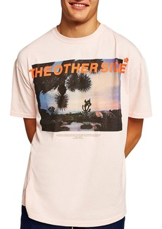 Topman Oversize Other Side Graphic T-Shirt